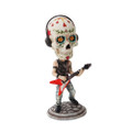 """PT10262 - 7"""" Day of the Dead Bobblehead Guitarist"""