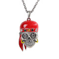 """PT10360 - 1.5"""" Pirate Skull Necklace"""