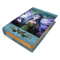 "PT10383 - 9.25"" Mystic Aura Book Trinket Box"