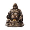 "PT10430 - 4.5"" Bronze-finished Lucky Buddha"
