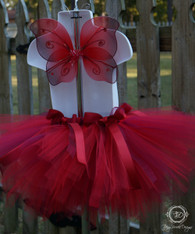 Red Butterfly Tutu Set