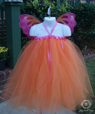 Orange Fairy Princess Tutu Set
