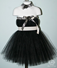 Black and White Tutu Dress, Flower Girl Tutu Dress