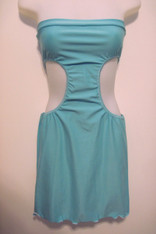 Short Turquoise Tube Dress