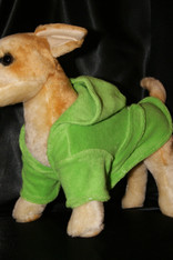 Lime Dog Bathrobe with Hoodie