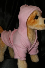 Pink Dog Bathrobe with Hoodie