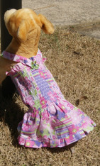 Fun In The Sun Pink Halter Dog Summer Dress