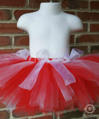 Baby's First Tutu, Christmas Tutu, Red and White Tutu