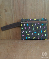 Neon Dog Bone Wristlet Wallet, Phone Case
