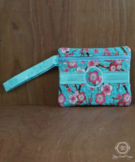 Japanese Cherry Blossom Wristlet Wallet, Phone Case