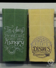 5 Piece Fun Kitchen Sayings Towel Set, Towel Set