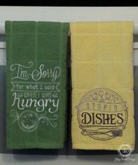5 Piece Fun Kitchen Sayings Towel Set, Towel Set