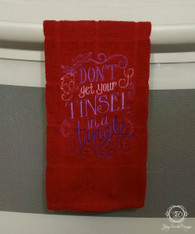 5 Piece Christmas Sayings Towel Set, Towel Set