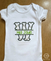 Split Applique Baby Bodysuit