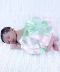 Two Color Ribbon Trimmed Tutu