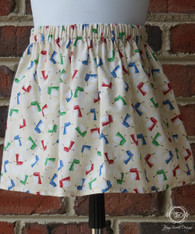 Snowman Toddler Christmas Skirt