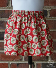 Music Notes and Holly Christmas Toddler Skirt