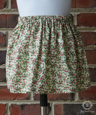 Christmas Holly Berry Toddler Skirt