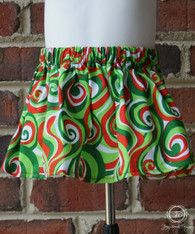Christmas Swirls Toddler Skirt