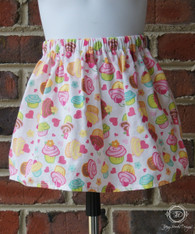 Cupcake Toddler Birthday Party Skirt