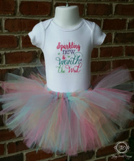 Five Color Rainbow Tutu