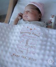 Princess Birth Announcement Baby Blanket