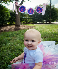 Round Scalloped Birthday Banner
