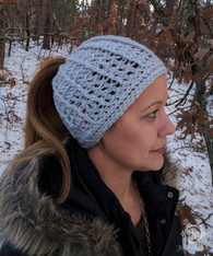 Spiraled Pony Tail Winter Hat