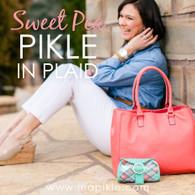 Sweet Pea Plaid Dill Pikle & Wristlet