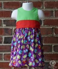 Christmas Presents Toddler Dress, Christmas Dress, Size 12m