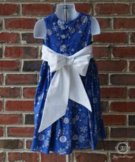Christmas Snowflake Toddler Dress, Christmas Dress, Size 4T