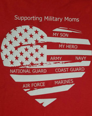Supporting Military Moms on RED, Imperfect SON, Size M