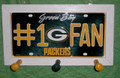 Green Bay Packers #1 Fan License Plate Peg Hanger
