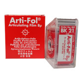 Arti-Fol Articulating Film 1 Sided Red in Dispenser