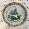 Vintage Walt Disney World Cinderella Castle Plate  - 1980's