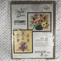 NOS Vintage Kenneth Mills Needle Queen Flower Language Stitchery 16 x 20 Picture
