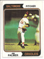 Topps # 49 Jim Palmer Baltimore Orioles Baseball Card - 1974