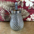 Classic Retro Diamond Pattern Glass Sugar Pourer