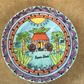 American Gift Hand Painted Cayman Islands Souvenir Plate - 7 3/4 inch Diameter