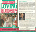 The Gary Smalley Series Hidden Keys to Loving Relationships - Volume 11 [VHS]