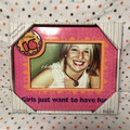 BNIB Whimsy Pink, Purple and Orange Sweet 16 Photo Frame by NewView