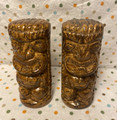Vintage Ceramic Tiki Gods Salt & Pepper Shakers - 1980's