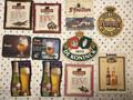 Vintage Set of 11 Beer Coasters Kronenbourg Tubork DeKoninck Dobbel Duvel etc