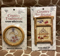 VTG Set of 2 Country Traditional Cross Stitch Kits Apples N' Spice Just Nappin'