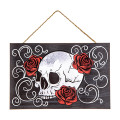 Darice Skull Halloween MDF Sign 11 inches x 7.5 inches
