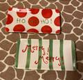 Set of 2 It's in the Bag Ceramic Christmas Merry! Merry! Ho Ho Ho ! Mini Platter