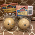 NOS Darice Craft Supplies Lot of Two 50mm Wood Girl Doll Heads No. 1223-07
