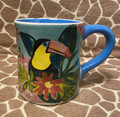 Jungle Bloom Collection Toucan Ceramic Coffee Mug
