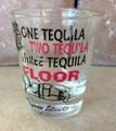 Cayman Islands One Tequila Two Tequila Three Tequila Floor Shot Glass
