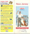 Vintage Exxon Gas Station Road Map of New Jersey - 1974